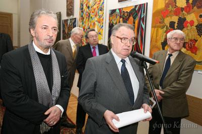 Зураб Пачулия на Выставке своих работ в Дипломатической Академии
