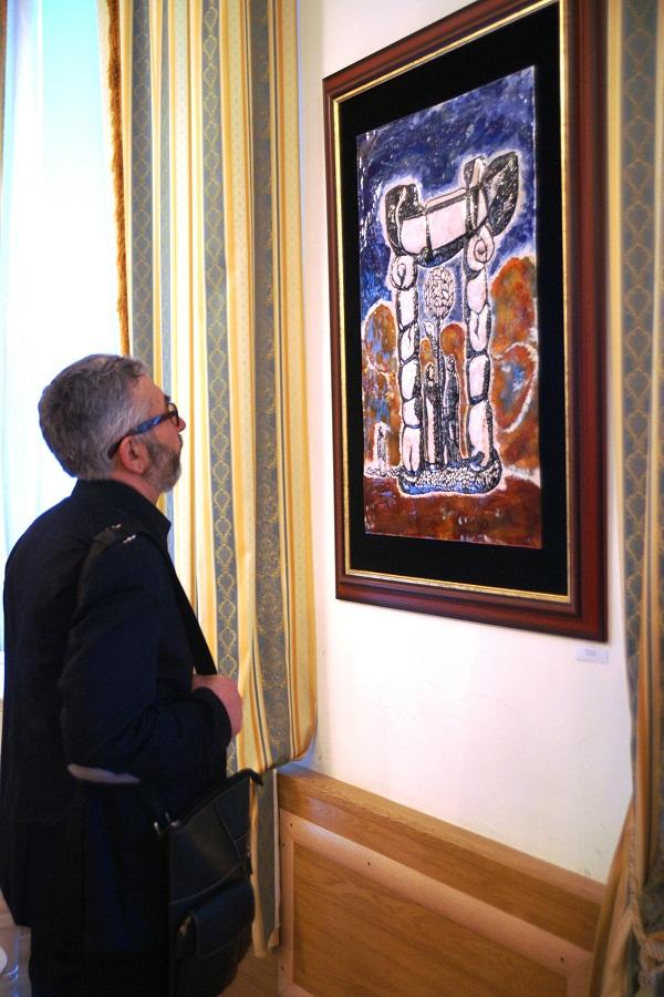 Эмаль I Московская Международная выставка художественной эмали в Белом зале Геологического музея им. Вернадского (Москва, Моховая, 11) февраль, 2013 г.