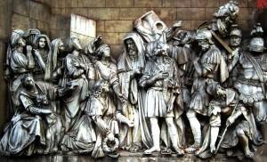 Встреча Давида, победившего Галиафа, Храм Христа Спасителя