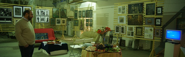 В мастерской Рябичевых 13 февраля 2013 г. Скульптор Александр Рябичев