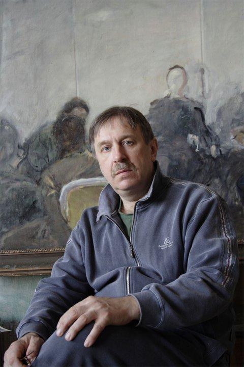 Михаил Гурвич фотография в мастерской