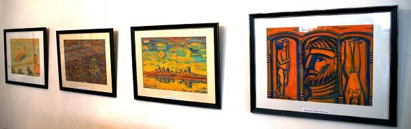 """Выставка  """"Неизвестные гуаши""""  Аннамухамеда Зарипова."""