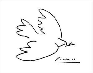 Рисунок  Пабло Пикассо  Голубь мира