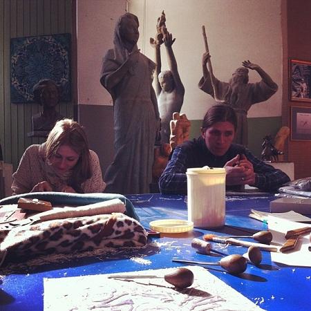 Мастер-класс в Мастерской скульптора Александра Рябичева