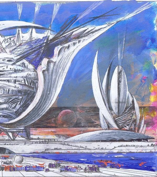 Автор:  Виктор Орловский   Архитектурная фантазия в стиле космопластицизм