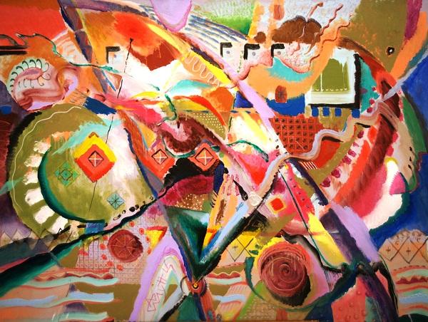 Выставка в Доме Архитектора Картина  художника Андрея Мунца