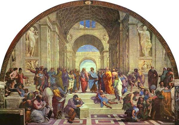Санти  Рафаэль. Афинская  школа.    1511 г.