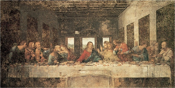 Леонардо Да Винчи. Тайная  вечеря   1495-1498 гг..