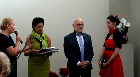 Вручение золотой медали отличнице Лицея Ирине Дерябиной