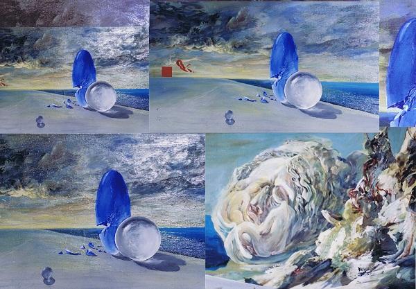 В.Орловский.  Территория  сна.   Коллаж  на  основе  картины. 1990-2000г.г.