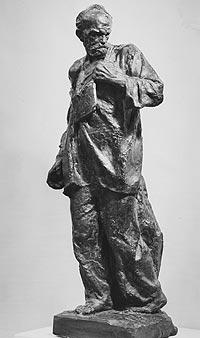 """Скульптор  Александр Кибальников.  """"Непокоренный""""  1946 г., гипс собственность В.А. Кибальниковой. Отлита в 2013 году  в Мастерской Александра Рябичева"""