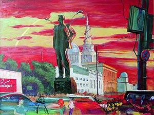 """Г.В. Животов """"Маяковский и площадь"""""""