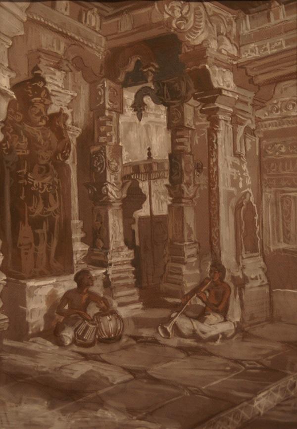 """Даниэла Рябичева композиция  """"Музыканты"""" из серии  """"Индия, Индия..."""""""