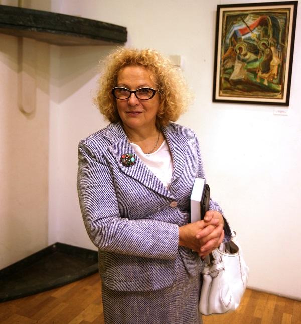 Алла Понятовская  на выставке  Юрия Петкевича в Театре  Школа драматического искусства