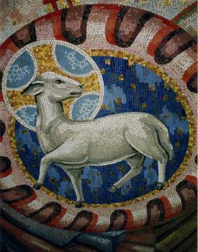 Мозаичная работа Бориса Анрепа