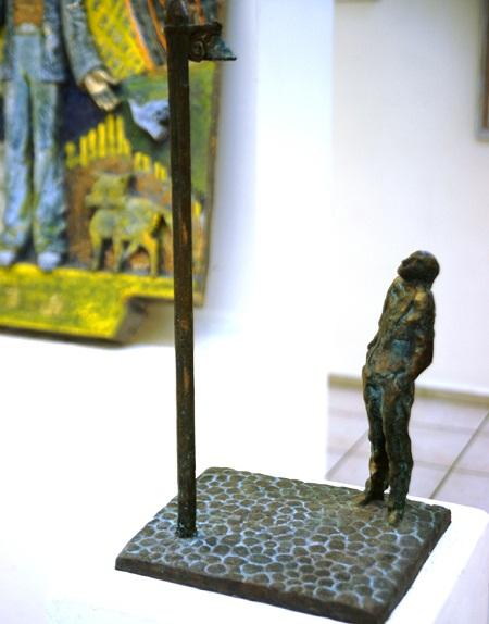 """Скульптор  Александр Рябичев Композиция  """"Одиночество. Иосиф Бродский"""""""