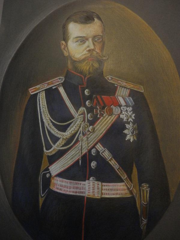 Художник  Лиза Радченко  Портрет Царя Николая II