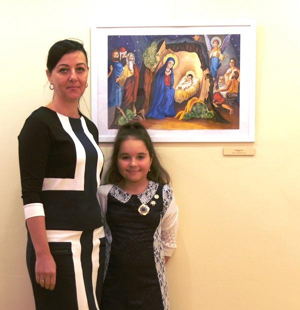 Юный художник Лиза Радченко  с мамой Светланой