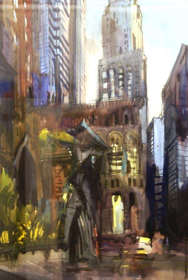 """Художник проефессор кафедры живописи Всеволод Георгиевич Тальковский """"Нью-Йорк"""" из серии """"Нью-Йорк"""""""