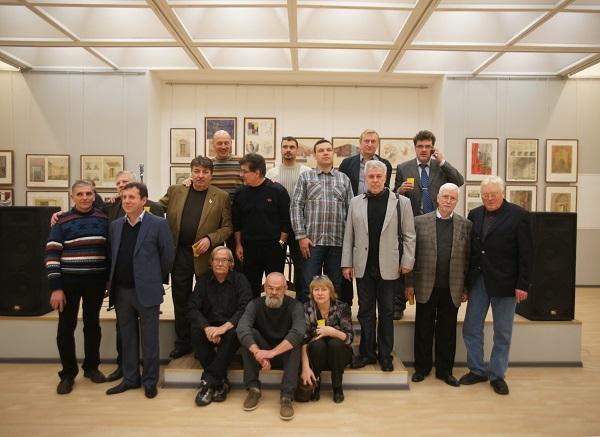 Участники мероприяития, преподаватели кафедры живописи МАРХИ