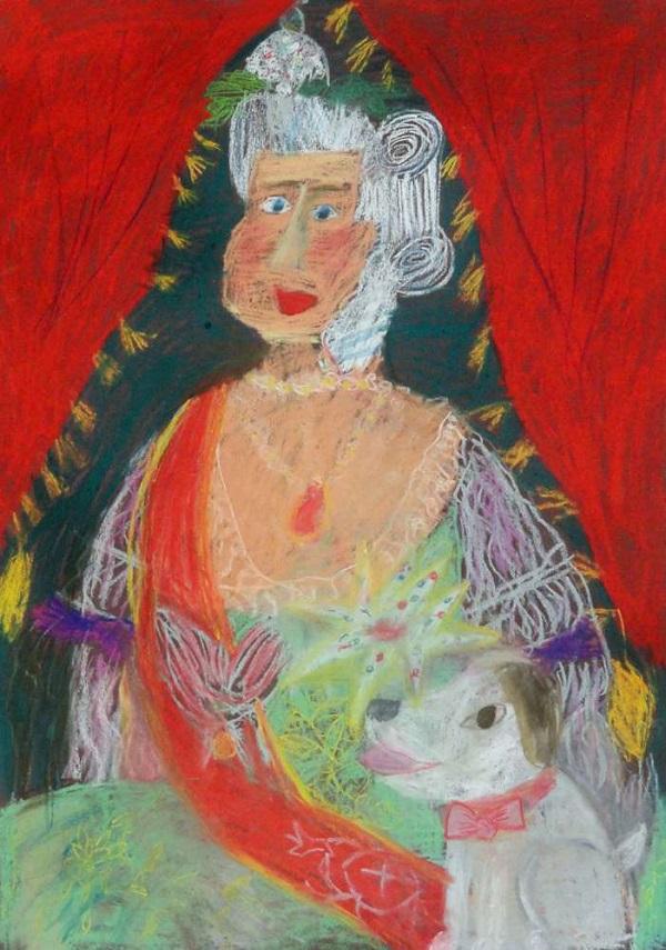 Елизавета Парфёнова 2 кл. г.Москва  «Екатерина II»  сухая пастель, 50х70 Преподаватель: Фролова О.М.