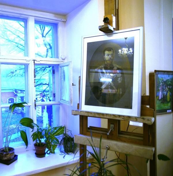 Работа Елизаветы Радченко в выставочном зале  Международного Фонда  славянской письменности и культуры