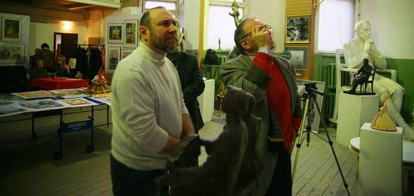 члены жюри скульптор Александр Рябичев, художник Зураб Пачулия