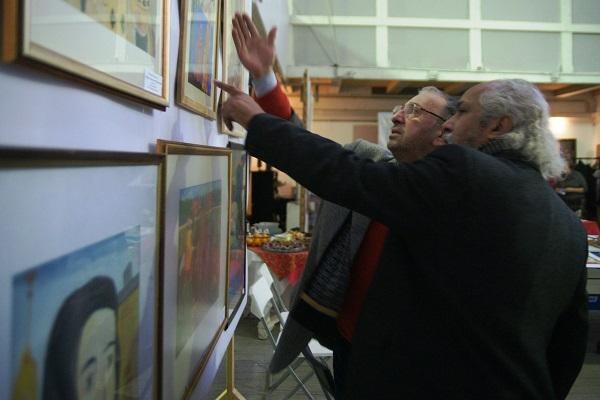 члены жюри художники Зураб Пачулия и Омар Годинес