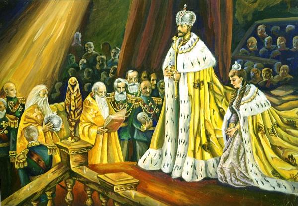 """Анна Коцемир  15 лет Диплом первой степени """"Коронация Николая II"""" бумага, гуашь"""