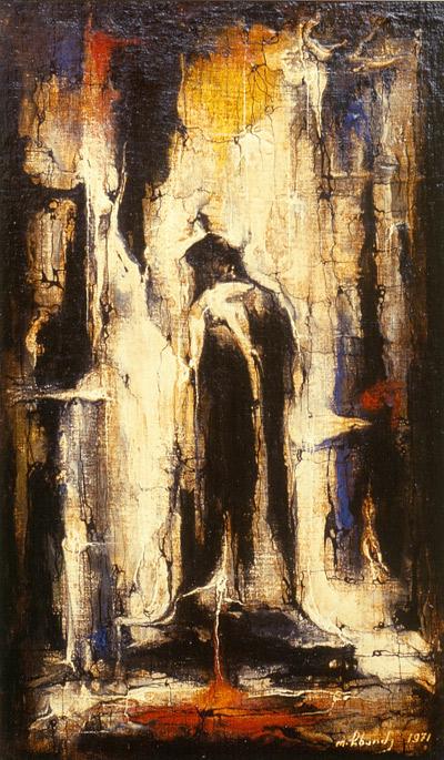 """Художник  Омар Чхаидзе """"Лао Цзы"""" 1971 г.  37х22"""