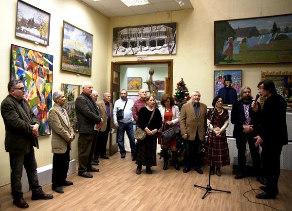 МОСХ Выставочный зал  на Беговой, 7 Открытие Выставки  13 декабря 2013 г.