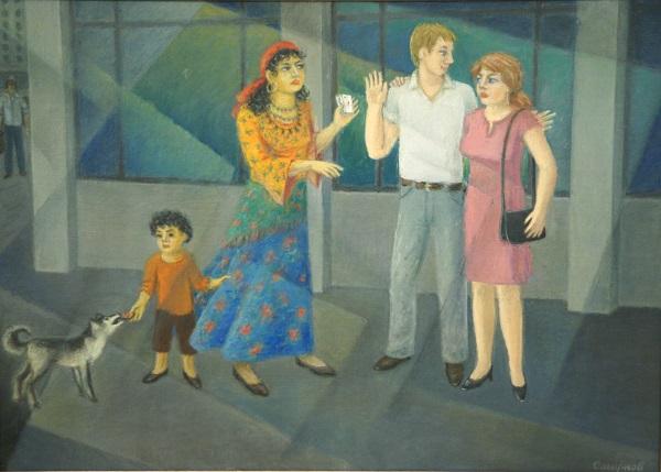 """Картина  Альберта Смирнова на Выставке в ВЗ """"Колорит"""" январь 2014"""