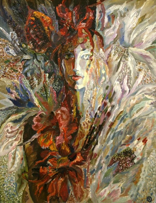 """Картина  Галины Якубовской на Выставке в ВЗ """"Колорит"""" январь 2014 г."""