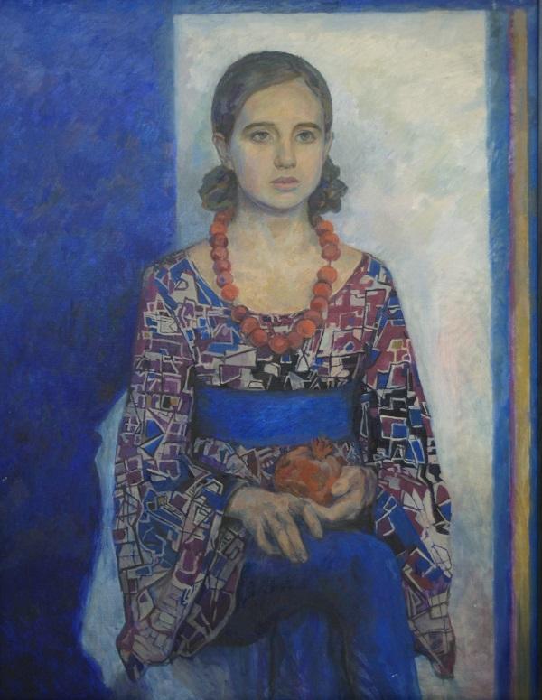 """Картина   А.Б.Кузнецовой-Смертиной на Выставке в ВЗ """"Колорит"""" январь 2014"""