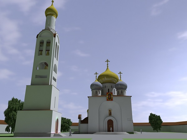 Одигитриевский монастырь Соборная площадь проект Мастерская В.Ф.Орловского