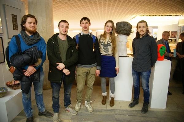 Молодые художники  участники Выставки в ЦДХ 26 февраля, 2014 г.
