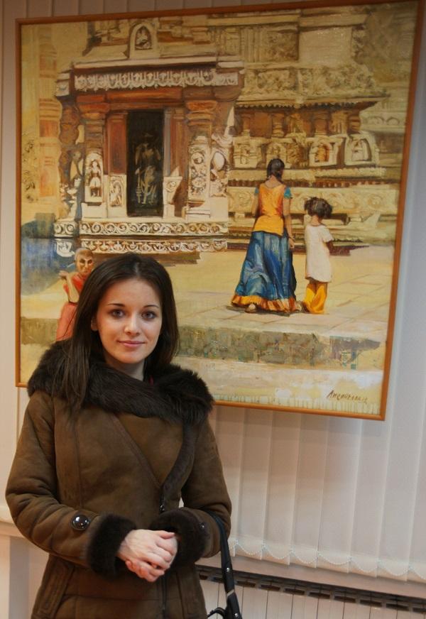 """На выставке  Ольги Лисенковой  """"Индия -- великое прошлое и сегодня"""" Культурный центр им. Джавахарлала Неру при  Посольстве Республики Индия в РФ"""
