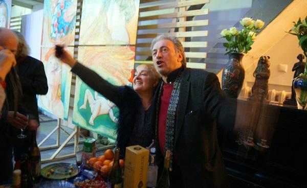 Автор Выставки Маргарита Юркова и гость Вернисажа  художник  Зураб Пачулия