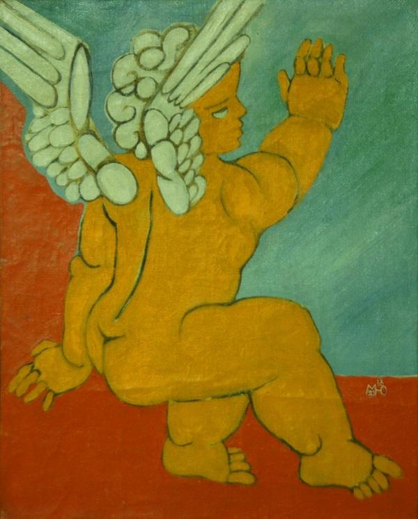 Художник  Маргарита Юркова «Ангел»  1993 г. холст, масло