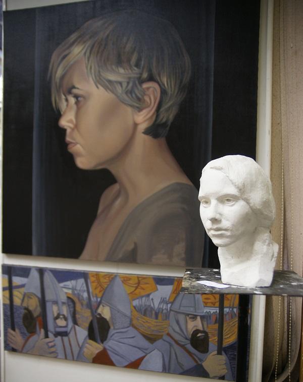 Скульптор  Никита Никитин 1986 г.р. Портрет Софии гипс, 2013 г.