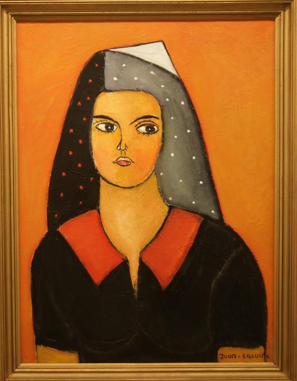 """Художник  Габриэль Юон-Эргин """"Восточная красавица"""" холст, масло, 2013 г.  Эта картина называется """"Восточная красавица"""", но в портрете мы узнаем черты жены художника Натальи -- его прекрасной музы."""