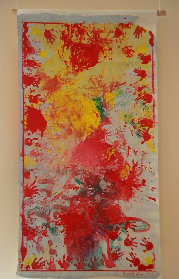 Агния Цыганова  картина, которую девочка нарисовала в возрасте 1 года