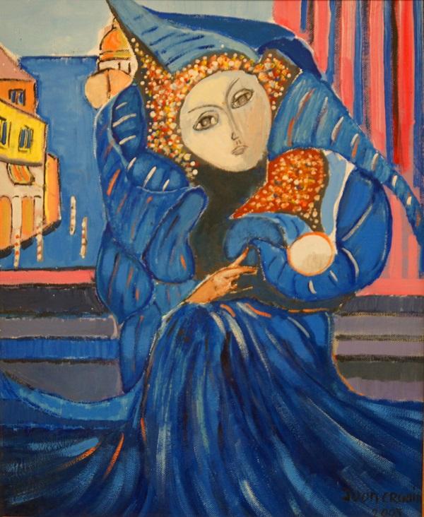 """Художник  Габриэль Юон-Эргин """"Коломбина"""" холст, масло, 2005 г."""