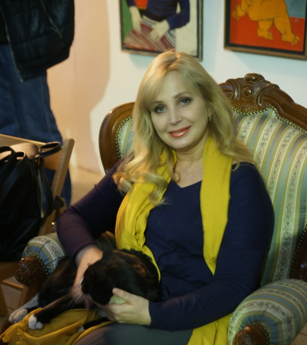 Лариса Белима художник (и кот Алекс)