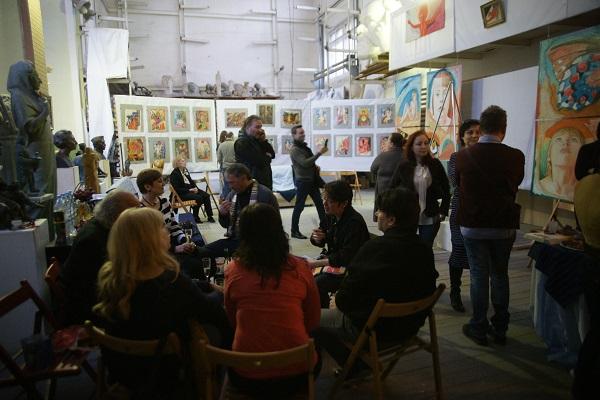 Выставка Маргариты Юрковой  в Творческой Мастерской Рябичевых  2014 г.