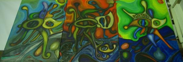 """Картины Сергея Куприянова Выставка """"Биогенез. Среда обитания"""" (Планета Земля) Творческая Мастерская Дмитрия Рябичева Студия Александра и Даниэлы Рябичевых с 26 апреля до 11 мая 8 926 524 12 47"""