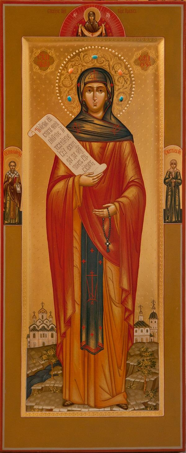 Мерная икона с Николаем Чудотворцем и Матроной Московской  Мастерская Екатерины Ильинской