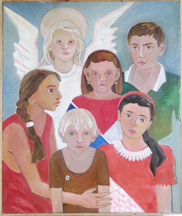 Художник  Маргарита Юркова детский групповой портрет