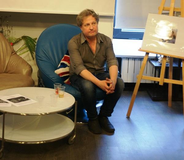 Вилли Мельников  Открытие выставки фотографий  кинооператора и сценариста Геннадия Немых  в студии дизайна BriArt 11 июня 2014 г.