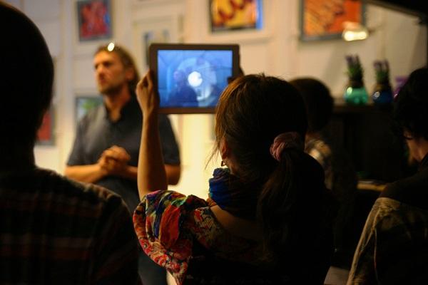 Открытие выставки фотографий  кинооператора и сценариста Геннадия Немых  в студии дизайна BriArt 11 июня 2014 г.